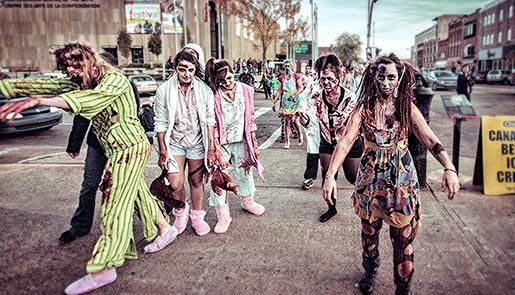 Adbusters Buy Nothing Day Zombie walk