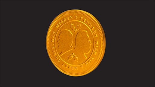 Wieden+Kennedy Christmas Chocolate Coin