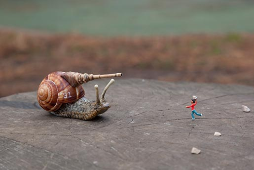 Slinkachu Play Fighting