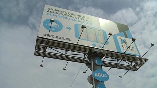 UTEC Water Billboard with bottle
