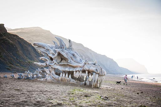 Game of Thrones Dragon Skull on beach