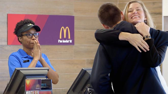 McDonalds Pay With Loving campaign