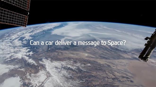 Can a car deliver a message to space?