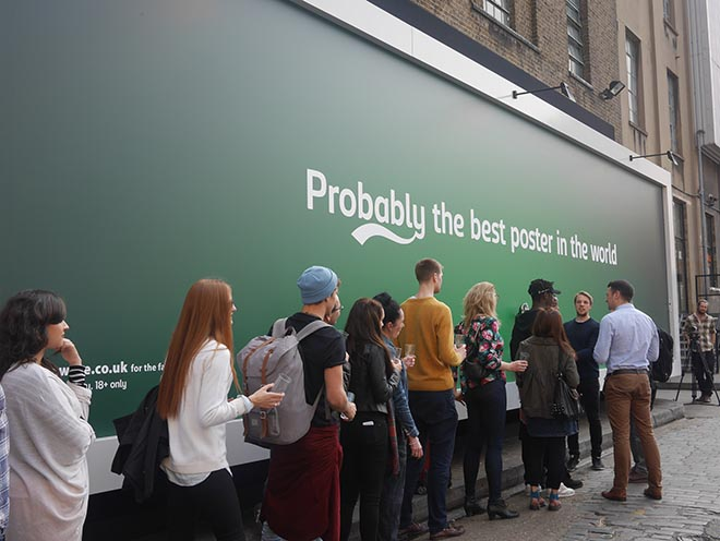 Carlsberg Best Poster - Queue