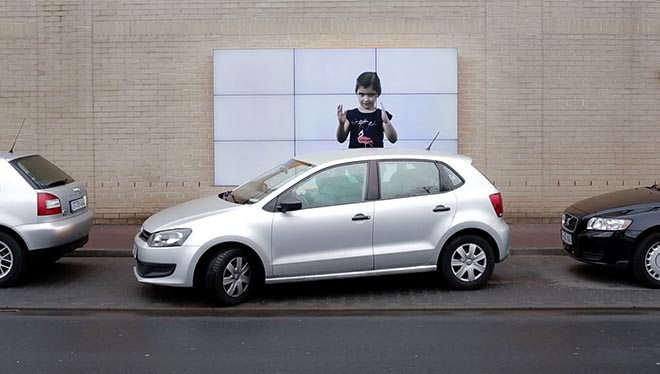 Fiat 500 Parking Billboard