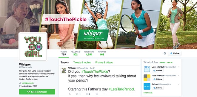 Whisper Touch The Pickle Twitter page