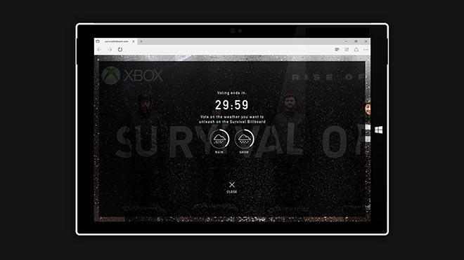 Tomb Raider Survival Billboard site