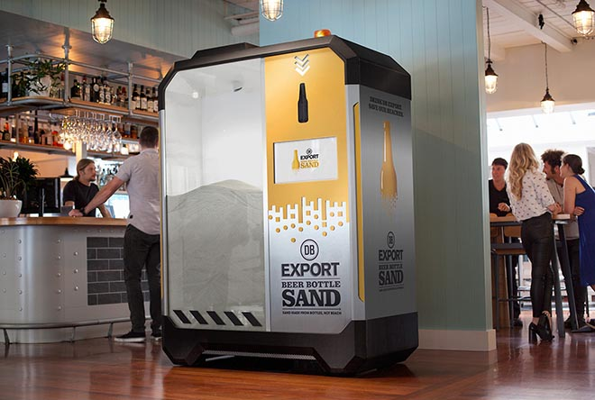 DB Export Beer Bottle Sand Machine