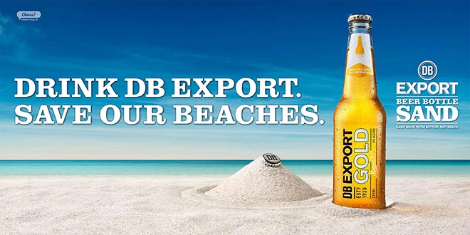 DB Export Beer Bottle Sand Banner