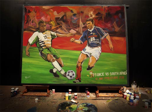 Adidas Live Quest Painting: South Africa v France