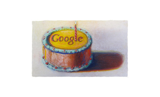 Google 12th Birthday Cake by Wayne Thiebaud