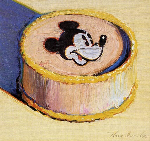Mickey Mouse cake by Wayne Thiebaud