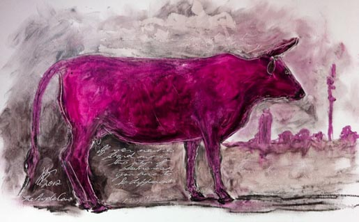 Purple Cow II by Sarah Britten
