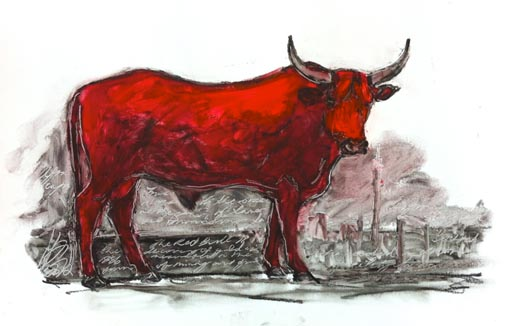 The Red Bull II by Sarah Britten
