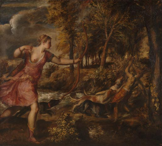 The Death of Actaeon - Titian
