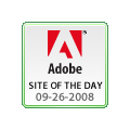 Adobe Site of the Day badge
