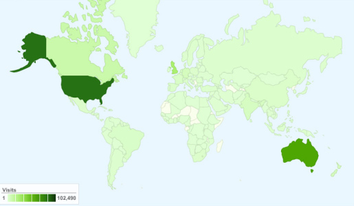 World Map Blog Readers