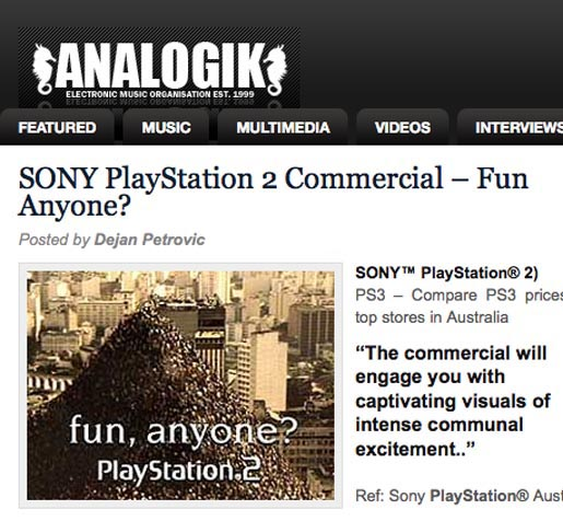 Analogik Playstation article