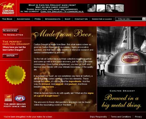 Carlton Draught Web Graphic