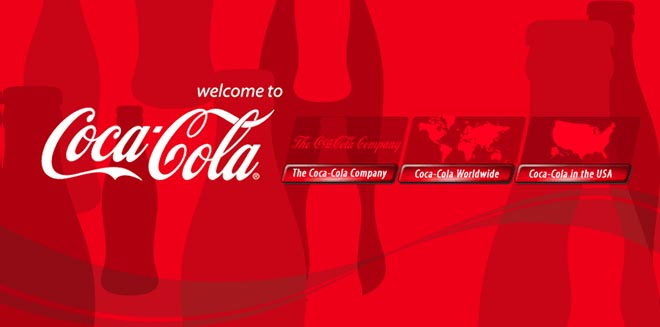 Coca Cola Web Site 2005