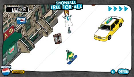 Pepsi Snowball Free For All screenshot