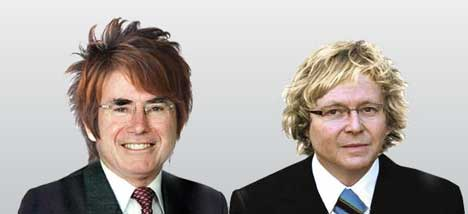 John Howard and Kevin Rudd with Gen Y hair styles