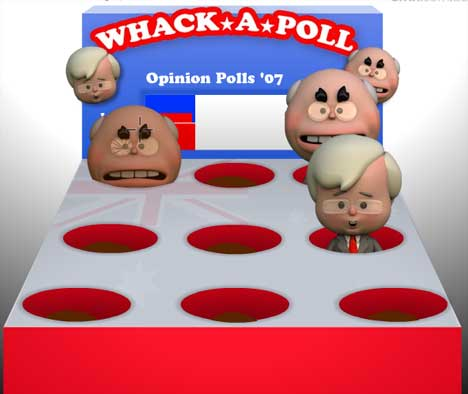 Howard and Rudd in Whack A Poll game