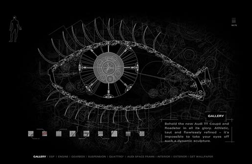 Audi TT Body Microsite Eye