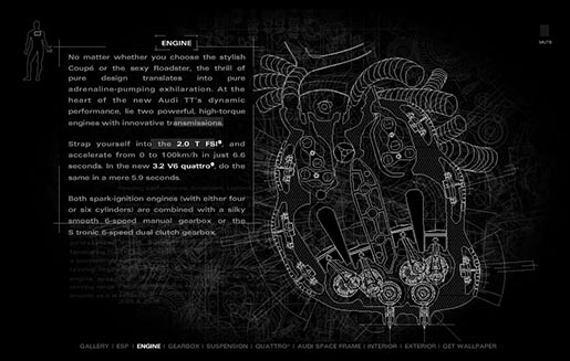 Audi TT Body Microsite Heart Engine