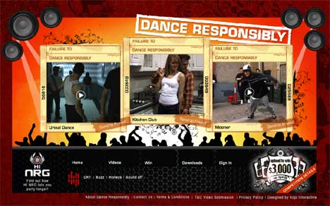 Dance Responsibly Web Site