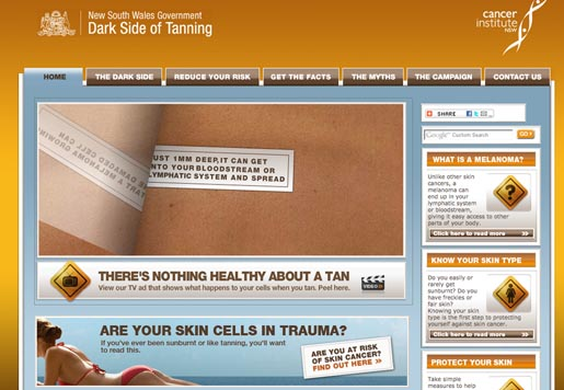 Dark Side of Tanning Site