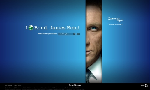 Sony James Bond site