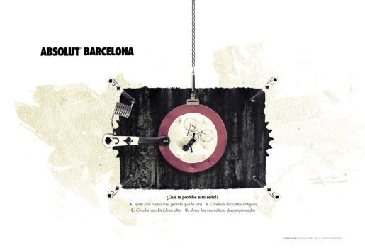 Absolut Barcelona Bicycle signs