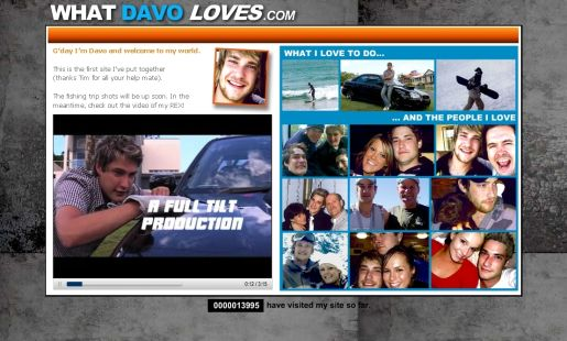 What Davo Loves site