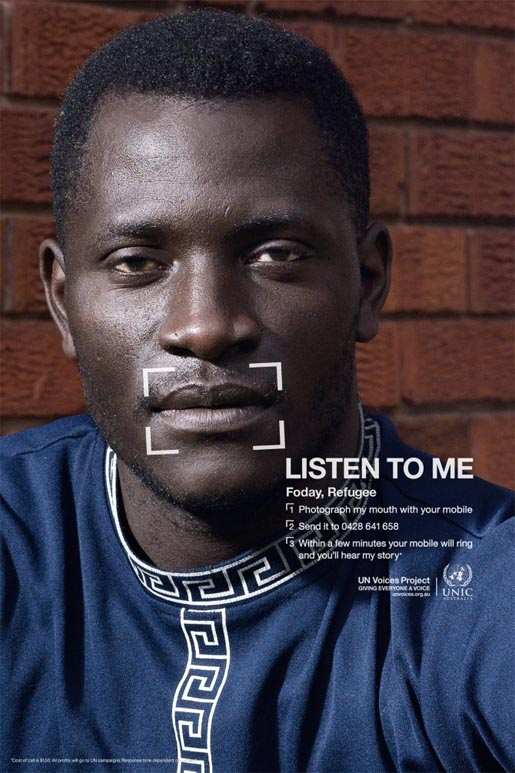 Foday a refugee from Western Africa in UN Voices campaign