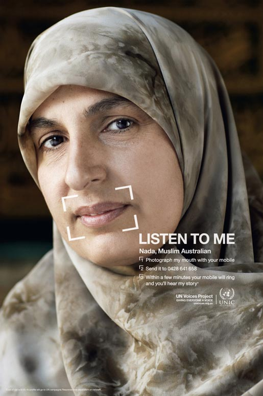Nada a Muslim Australian woman in UN Voices campaign