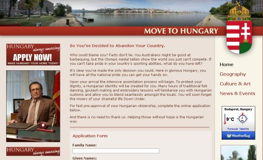 Move to Hungary web site