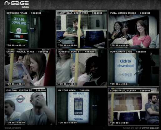 Nokia N-Gage videos from London Tube