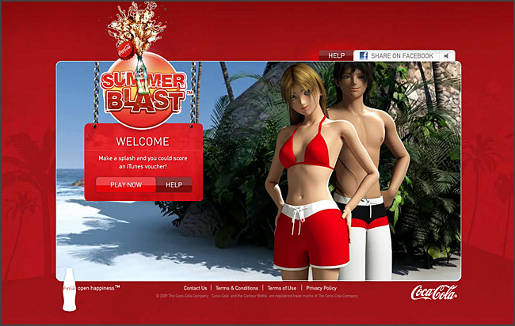 Coca Cola Summer Blast game