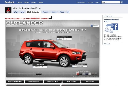 Mitsubishi Outlander on Facebook