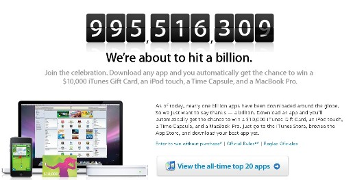 Apple 1 Billion App Countdown Clock