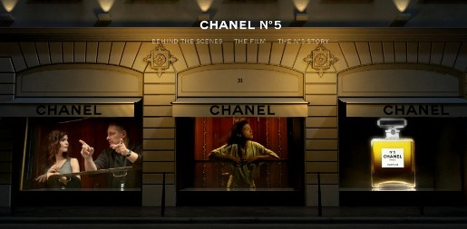 Chanel no 5 Night Train site