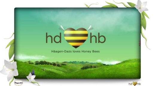 Haagen Dazs Loves Honey Bees web site