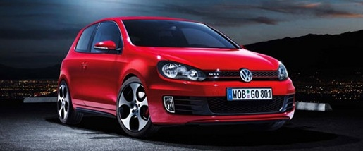 Volkswagen Golf GTI car as prize