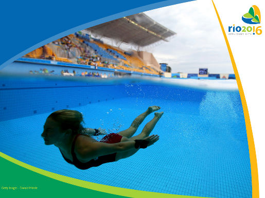 Emilie Heymans diving photograph from Rio 2016 ad