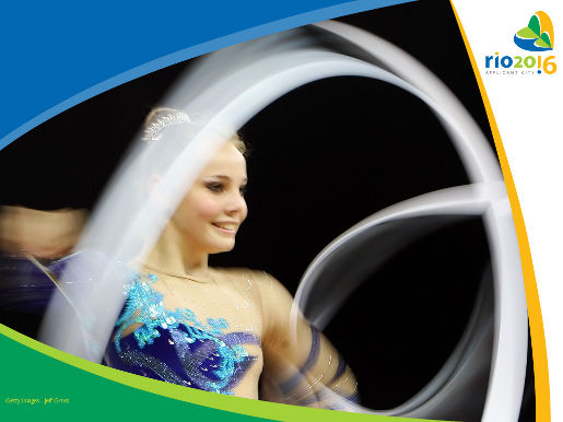 Angelica Kvieczynsk rhythmic gymnastics photograph from Rio 2016 ad