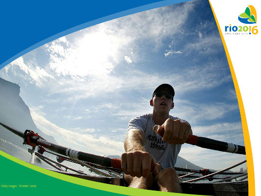 Francis Cuddy rowing photograph from Rio 2016 ad