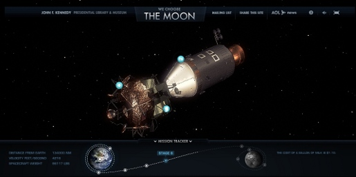 We Choose the Moon site screenshot