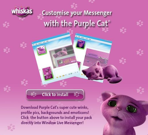Whiskas Purple Cat Messenger