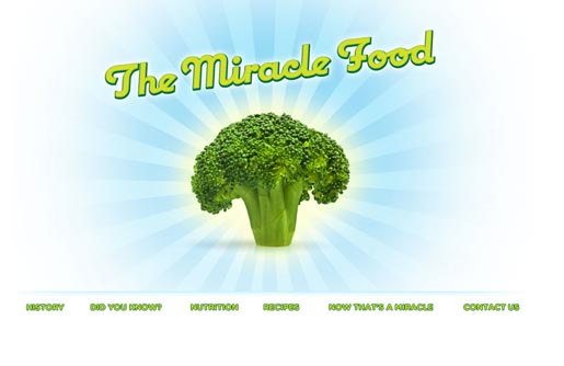 Broccoli the Miracle Food site